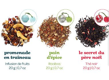 3. Boules de thé pour l'arbre de Noël