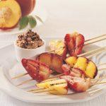 Brochettes de fruits grillés au miel