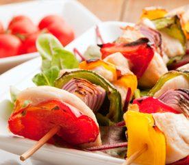 10. Brochettes aux légumes et herbes fraiches