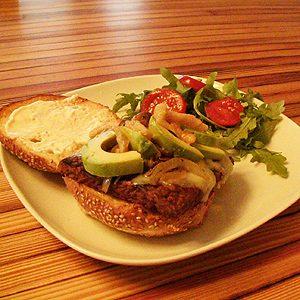 4. Le hamburger de tempeh de Joannie