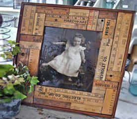 3. Des encadrements pour photos décorés de règles