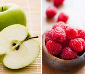 1. Pour atténuer votre risque de cancer, combinez pomme et framboise