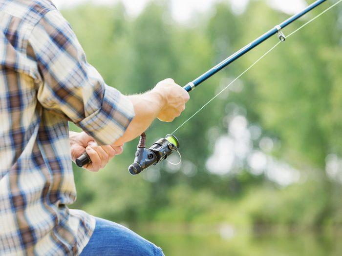 2. Canne à pêche