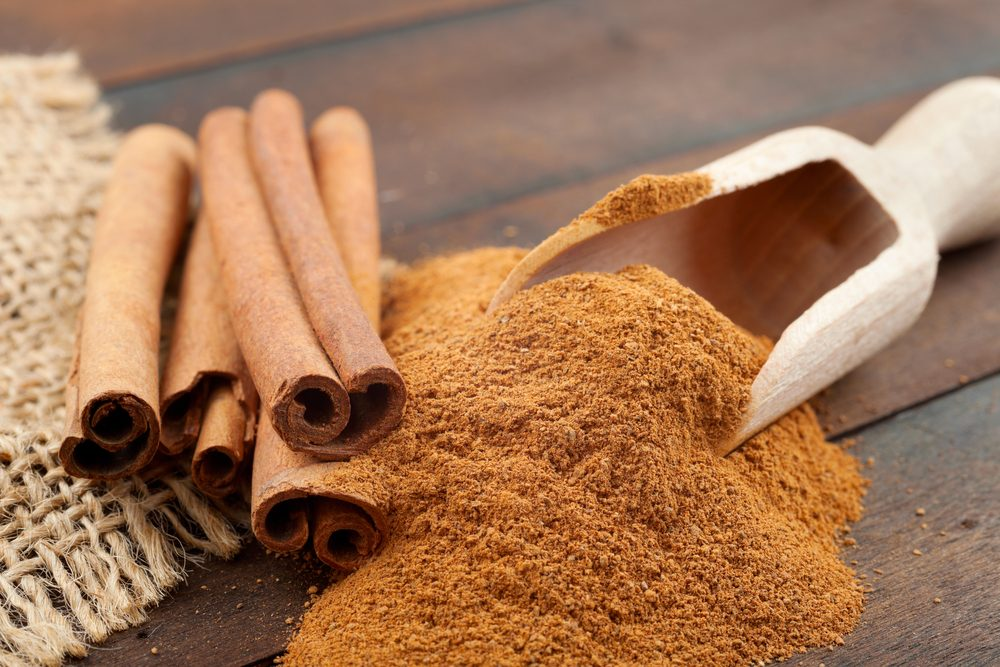 Cinnamon is a food that promotes maintenance and weight loss