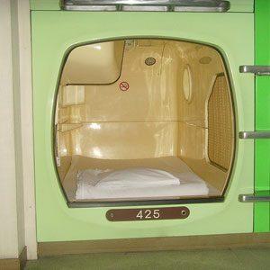 7. Hôtels capsules, Japon