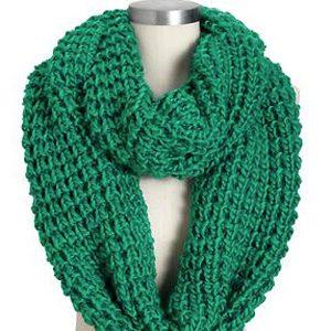 Écharpes infinies en grosse laine pour femme