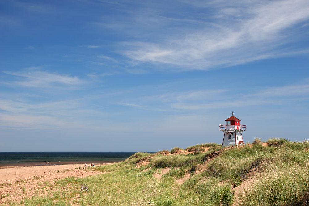 La plage de Cavendish, l'Île du Prince-Édouard.