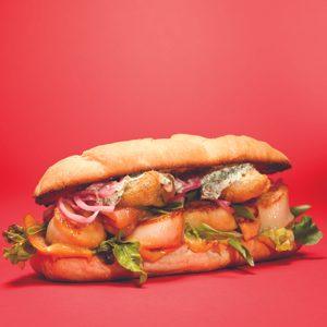 Hamburger aux pétoncles