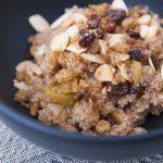 Céréales maison aux pommes et canneberges