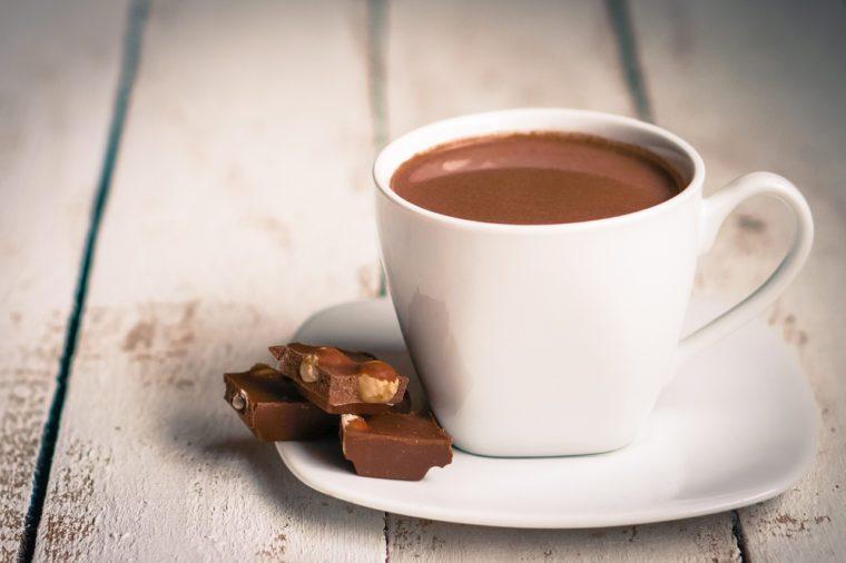 Une recette de chocolat chaud maison