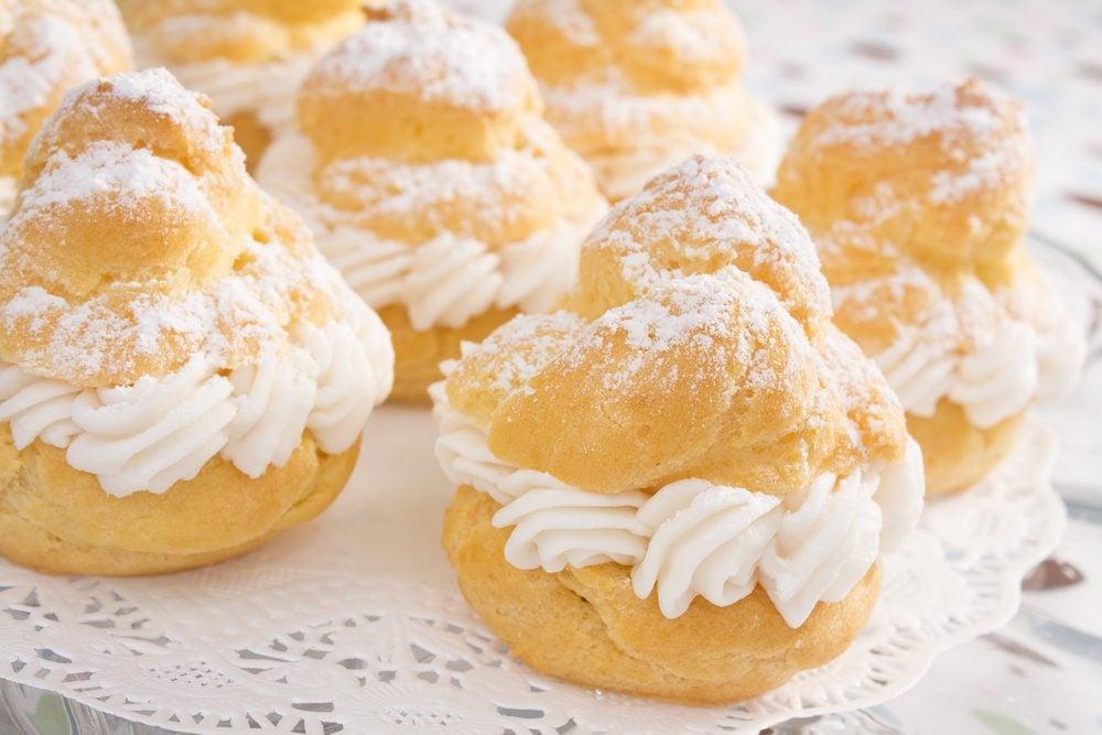 Une recette facile de choux à la crème citronnée