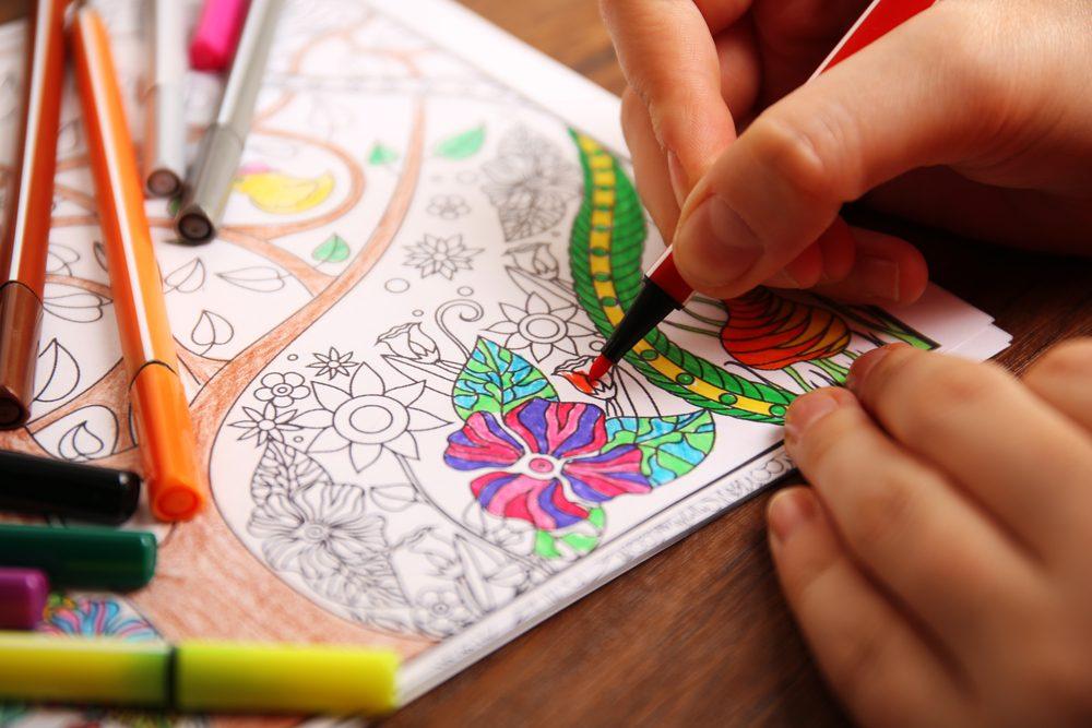 Truc contre le stress et l'anxiété: Coloriez pour relaxer et vous changer les idées.