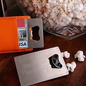 Ouvre-bouteille personnalisé de style carte de crédit