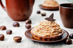 Crème de marrons au chocolat râpé