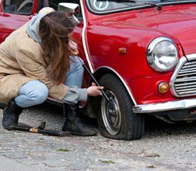 2. La crevaison d'un pneu