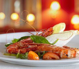 1. Crevettes et poisson