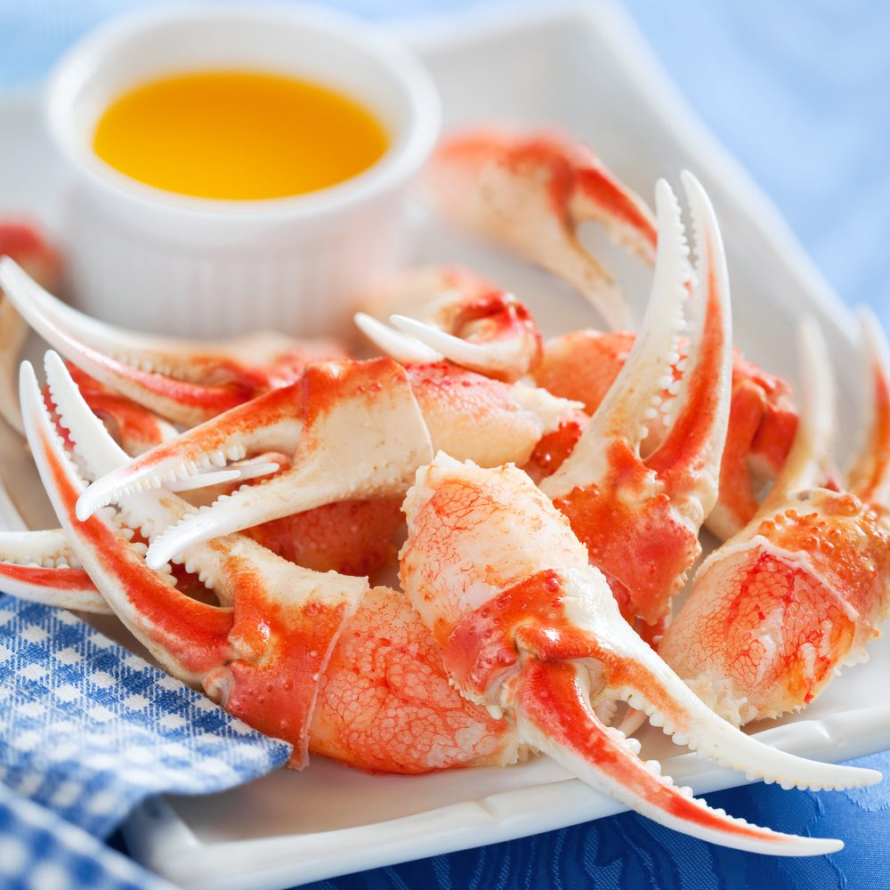 Source de protéines : les crustacés.