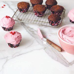 2. Cupcakes au chocolat et à la courgette, glaçage au beurre