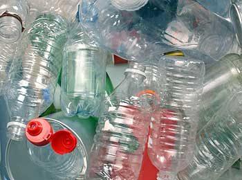 Bouteiles de plastique