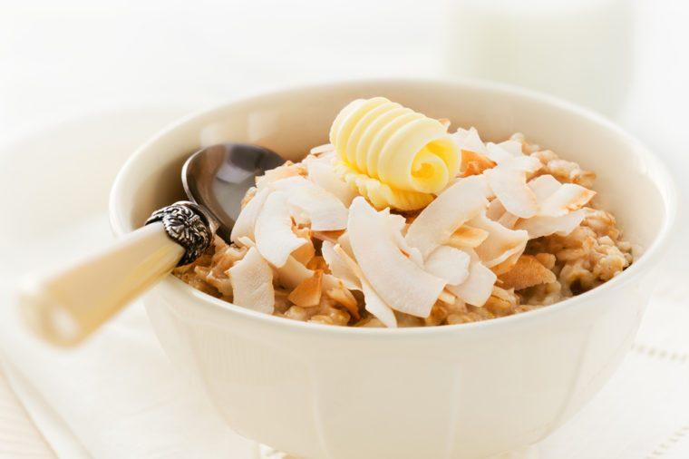 Une recette de gruau à la noix de coco pour les diabétiques.