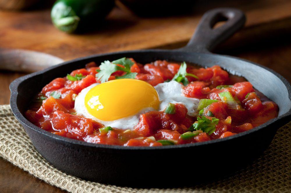 Un déjeuner simple, le huevos rancheros