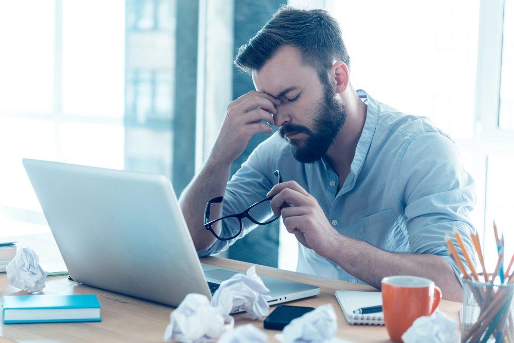 Parmi les symptômes de dépression, des problèmes de concentration.