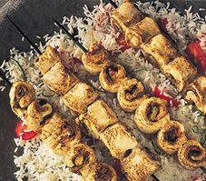 Brochettes de dinde saltimbocca