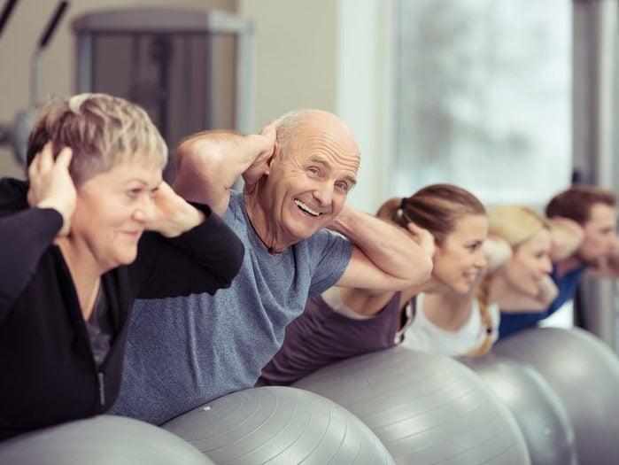 Dos et exercices physiques