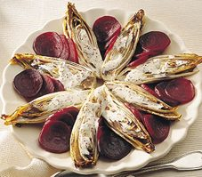 4. Endives grillées aux betteraves