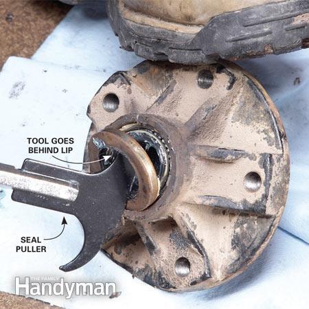 Enlever le roulement de roue intérieur
