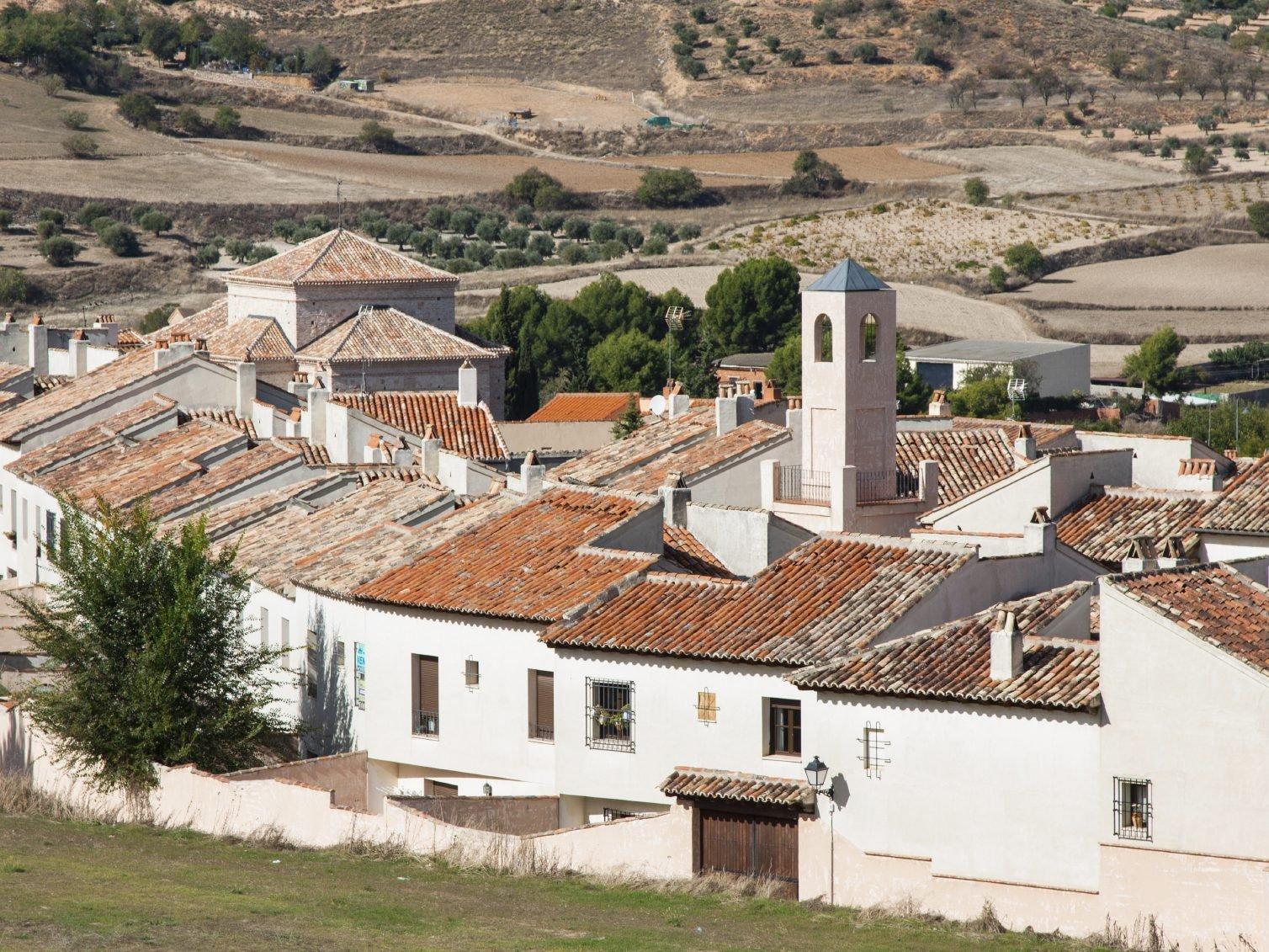 En Espagne, Chinchón, ville historique.
