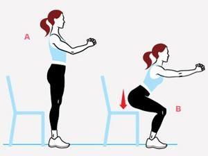 Flexion presque assise
