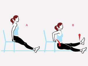 Mouvement un peu plus difficile: Dip avec une jambe levée