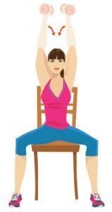 Dernière série d'exercices: Tricep press