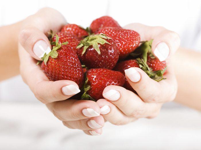 Exfoliant maison à la fraise