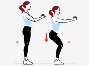 Deuxième série d'exercices: Flexion légère des jambes