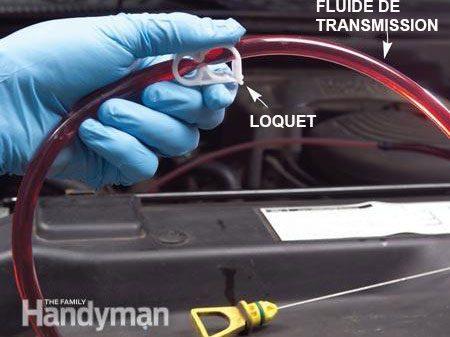 Étape 3 - Changer le fluide de transmission : vidangez le fluide