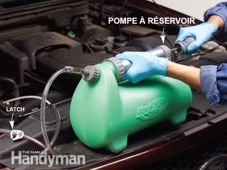 Étape 2 - Changer le fluide de transmission : pomper le réservoir