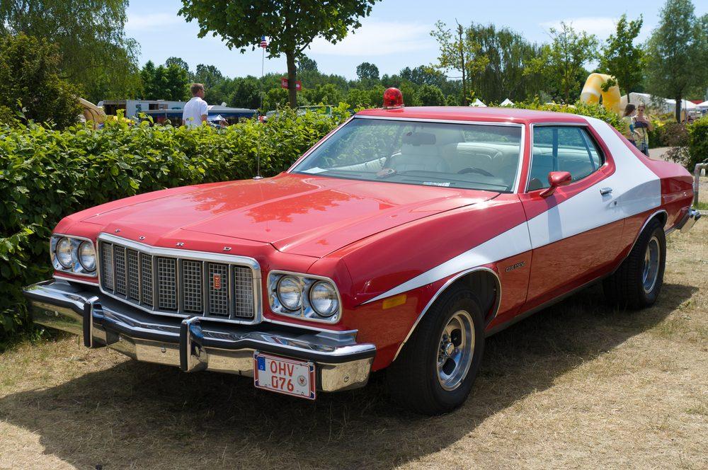 """Voiture célèbre : le Ford Gran Torino de """"Starsky et Hutch""""."""