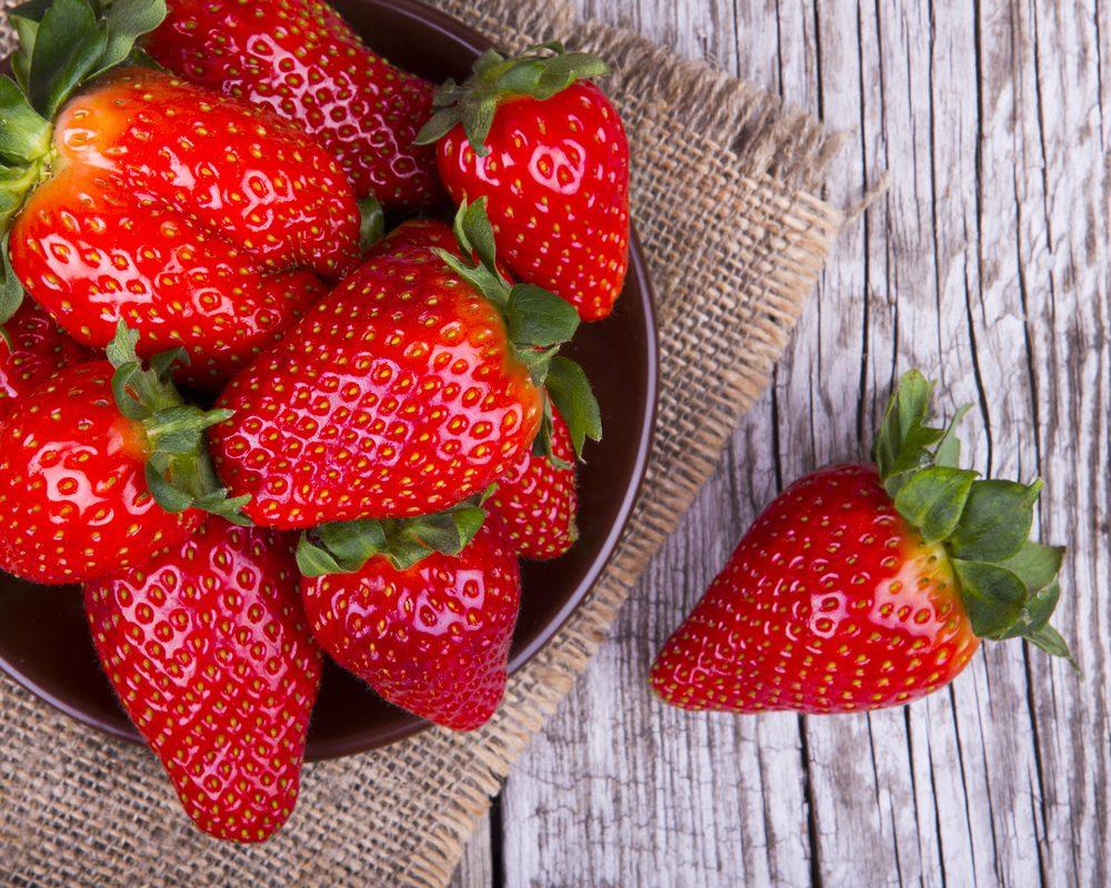 Les fraises pour brûler les graisses