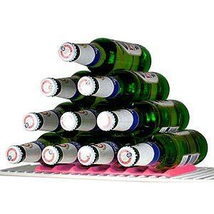 Support à bouteilles et canettes pour le frigo