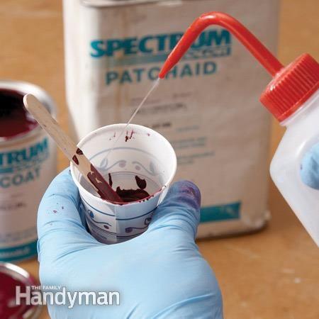 Réparer les entailles: Appliquer le produit de finition