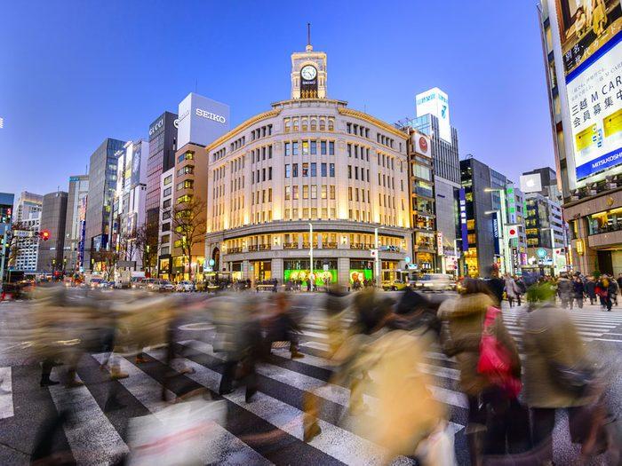 Ginza est l'une des rues les plus populaires au monde.