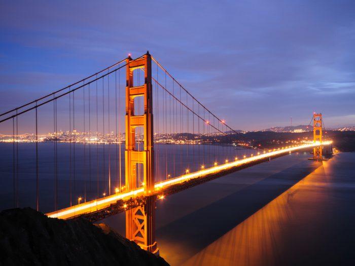 2. Le Golden Gate Bridge, San Francisco