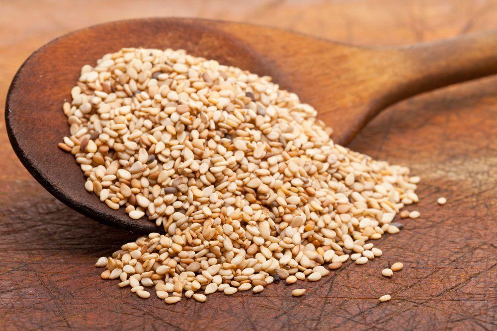Source de protéines végétales : les graines de sésame.
