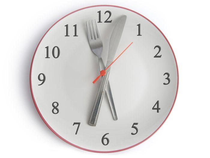 Collations et repas: respectez un horaire régulier