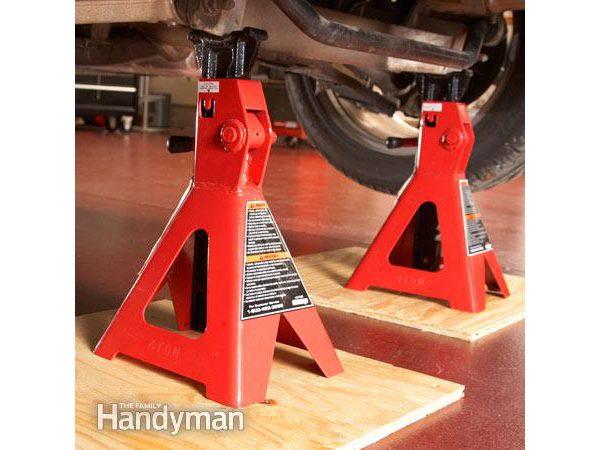 Étape 3: Soulever le véhicule sur des chandelles et abaisser la pression d'air