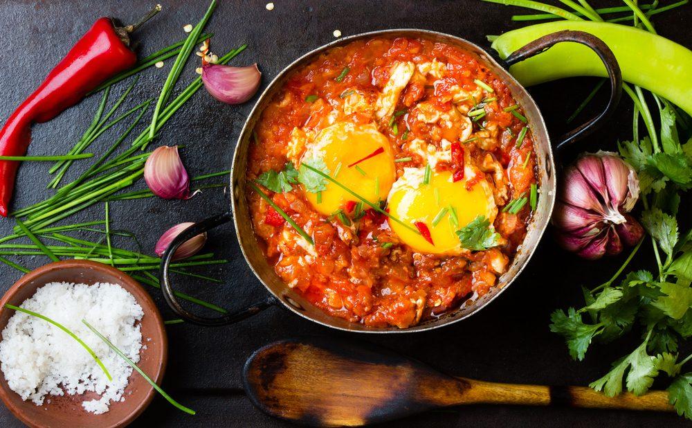 Déjeuner efficace pour maigrir: Huevos rancheros.