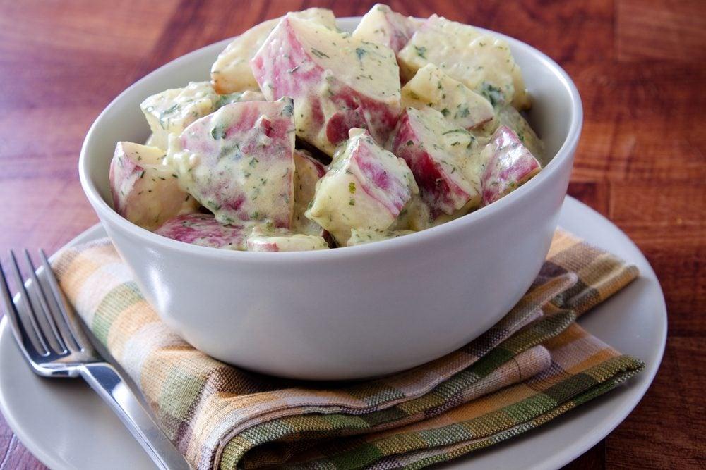 Une idée repas pour les lunchs de salade de pommes de terre