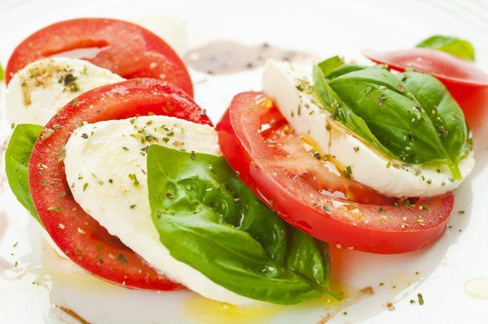 4. Salade de tomates et de mozzarella